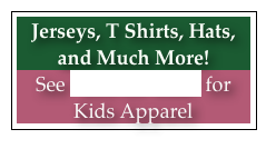 Jerseys, T Shirts, Hats, and Much More!